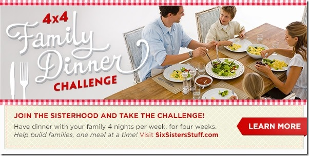 4X4 dinner challenge from Six Sisters Stuff