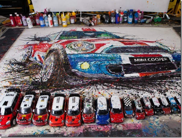 Artist Ian Cook Paints with Remote Controlled Cars