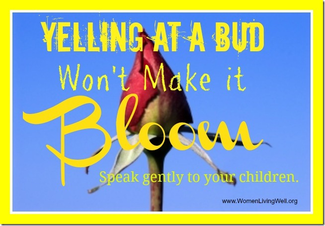 Yelling At a Bud Won't Make it Bloom
