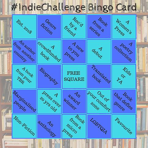 Indie Challenge Bingo Card